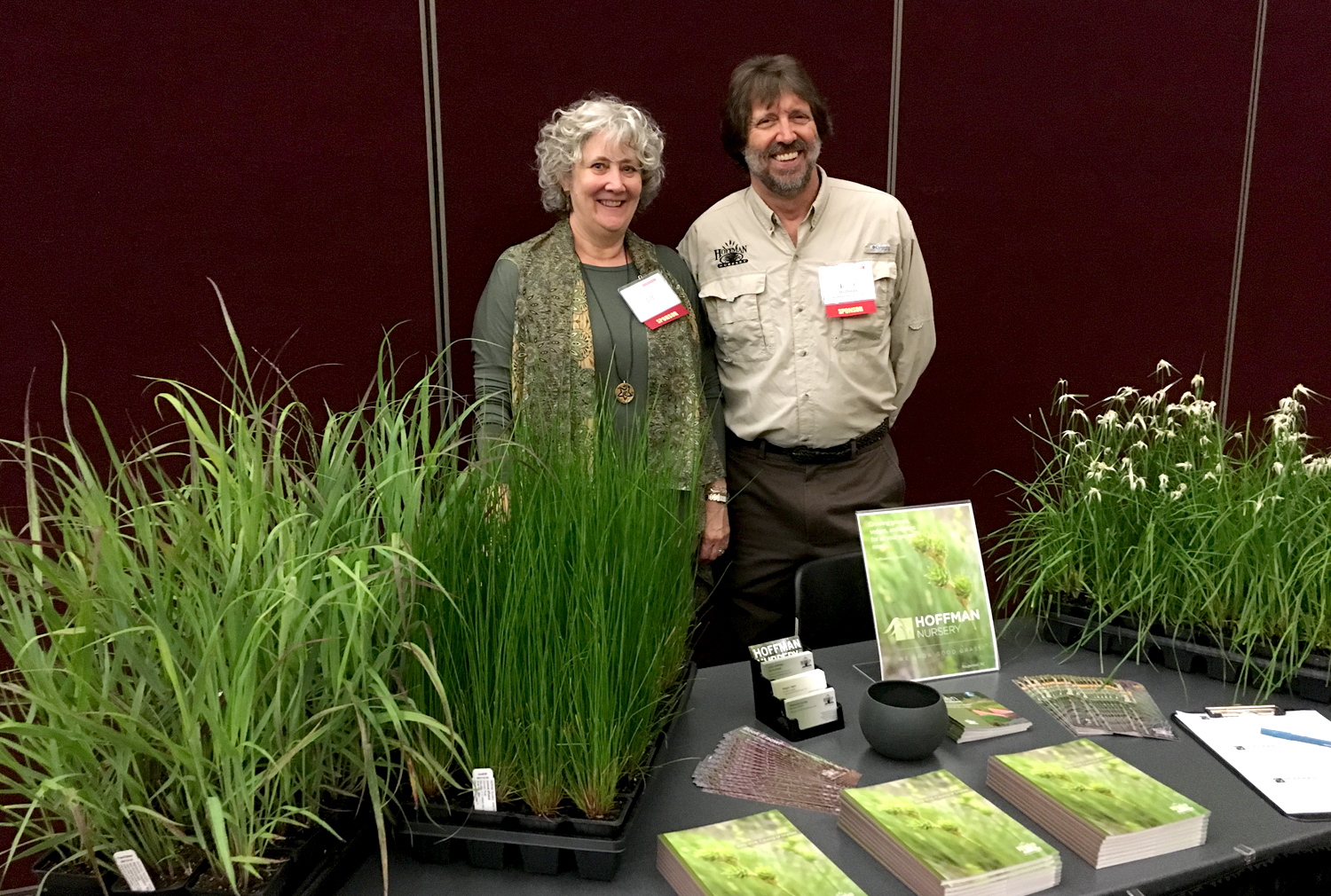 Jill and John Hoffman talked with attendees about the plants we're growing for green infrastructure. One of the most popular plants at the table was Star Sedge (Rhynchospora colorate), which was in full bloom.