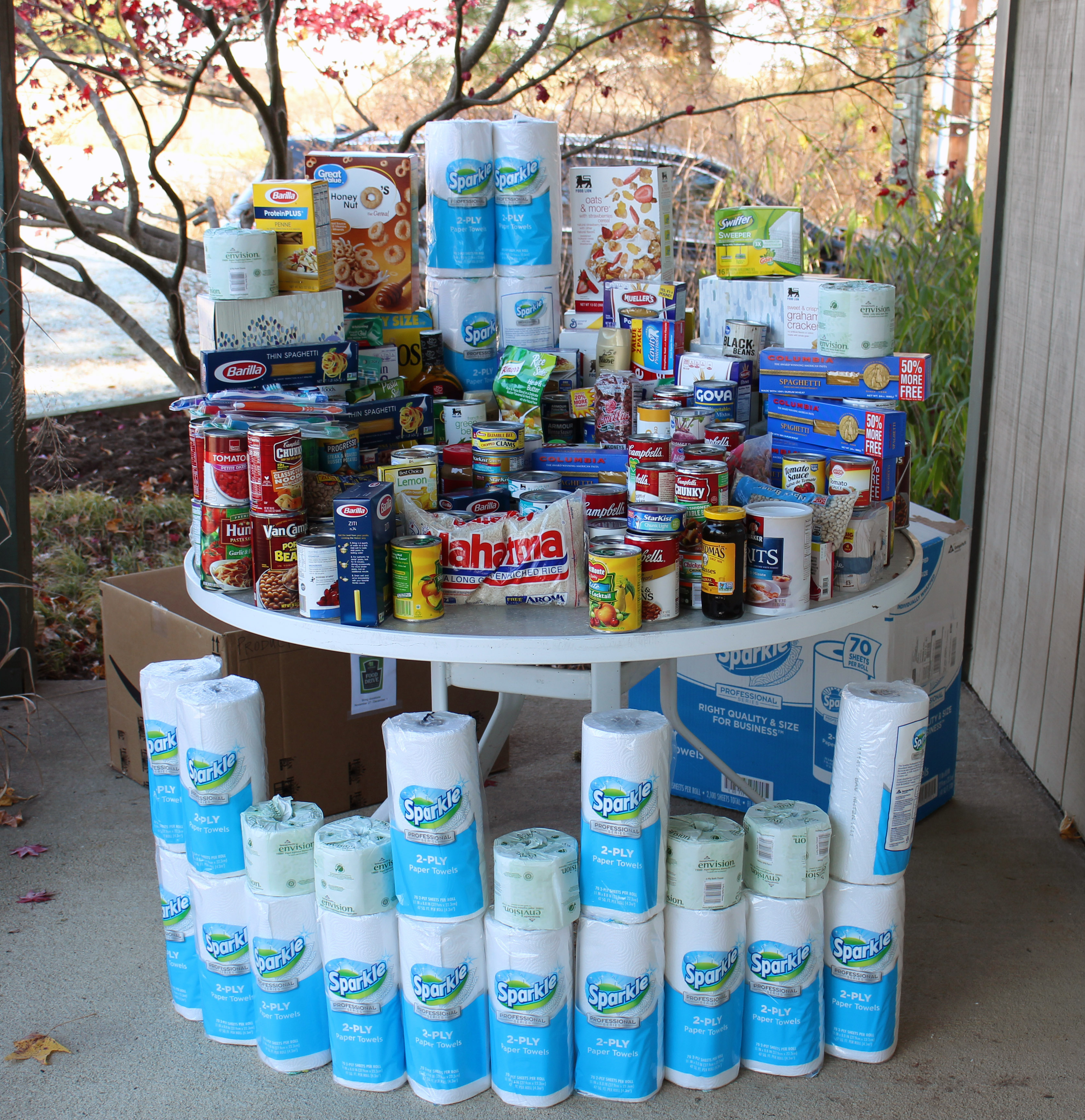 Hoffman Nursery Holds Food Drive