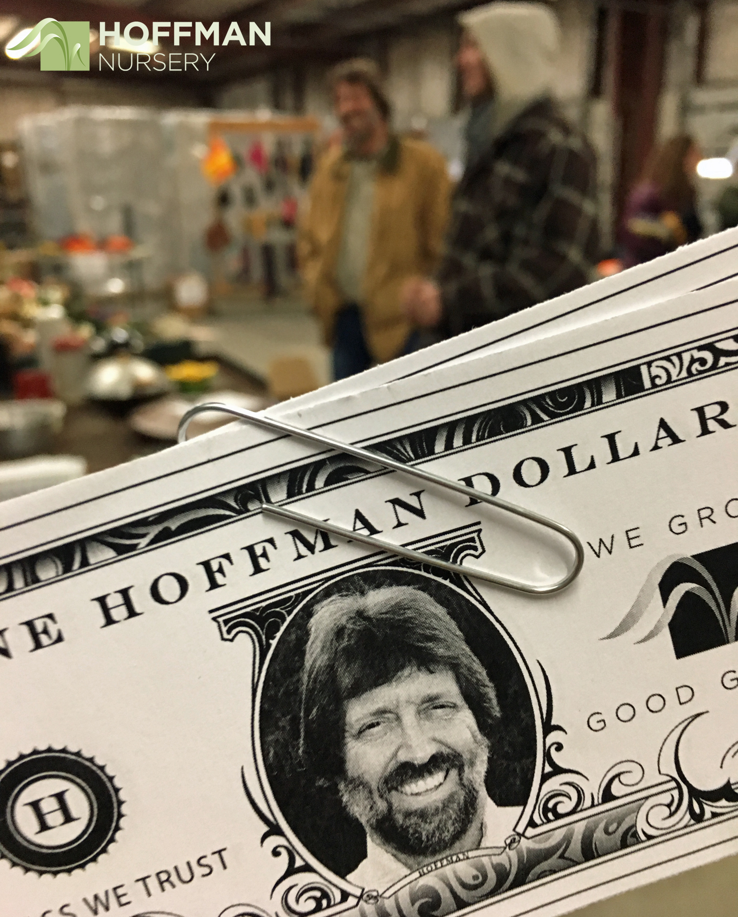 One of the highlights of the market was giving John Hoffman a gentle ribbing about the Hoffman Bucks.
