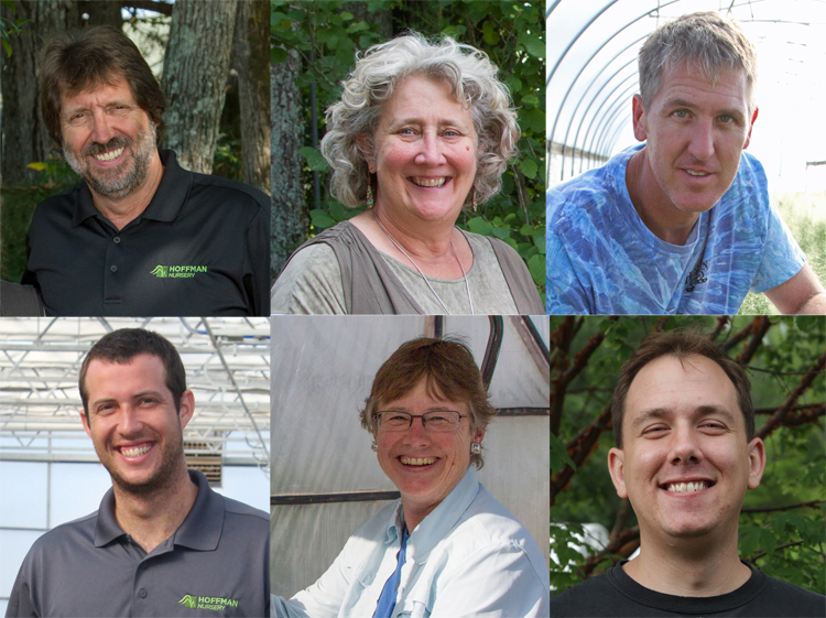 (top row) John Hoffman, Jill Hoffman, Scott Epps; (bottom row) David Hoffman, Martha Hamblin, Joseph Luhn