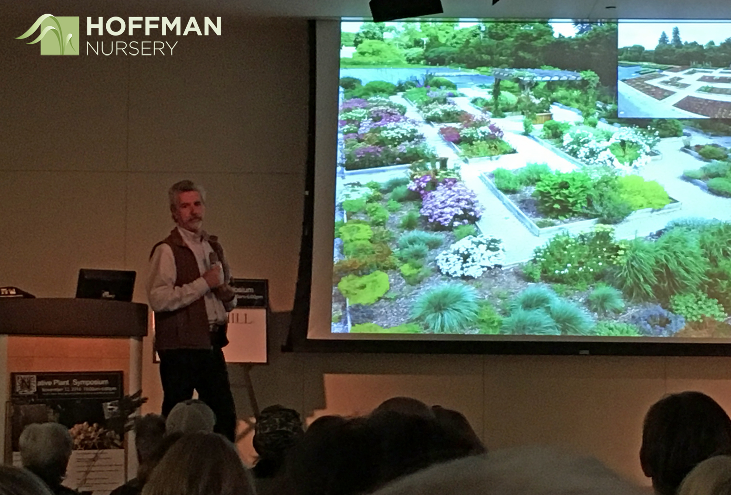 Steve Castorani of North Creek Nurseries started his talk on perennials for pollinators with a description of North Creek's trial and demonstration gardens.