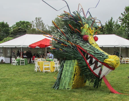 Leroy the Dragon at Gala in the Garden