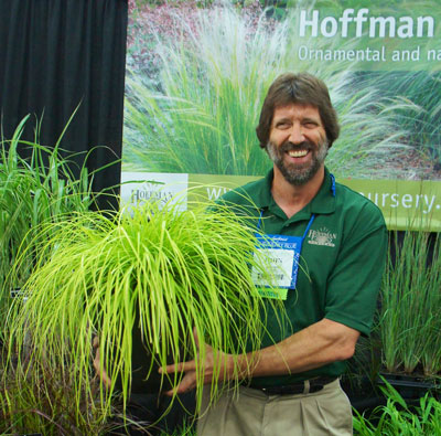 John Hoffman with Carex 'Everillo'