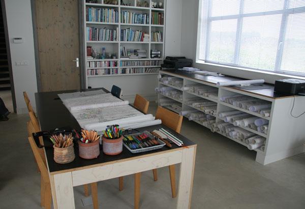 Piet Oudolf's studio