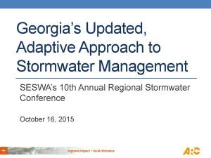 Georgia's new stormwater plan