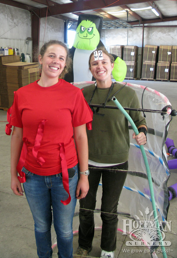 Emily and Maggie as 'Ruby Ribbons' and Greenhouse 62